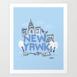 New Yawk City Art Print