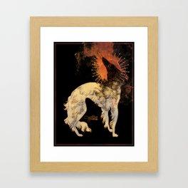 Fiery Beacon Framed Art Print