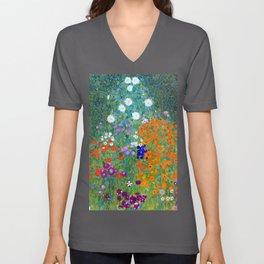 Gustav Klimt Flower Garden Unisex V-Ausschnitt