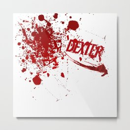 Dexter blood spatter Metal Print