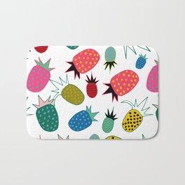 pineapple fun tropical white Bath Mat