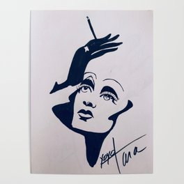 Marlene Sillhouette Poster