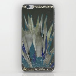 GRUBBY GREY ANTIQUE AGAVE CACTUS PIC iPhone Skin