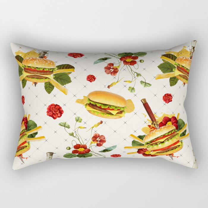 cheeseburger in gangstas paradise Rectangular Pillow