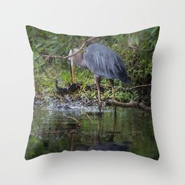 Washing Breakfast Throw Pillow