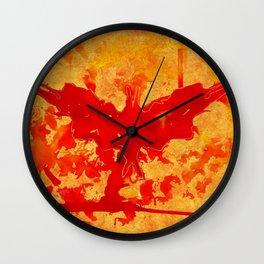 Stain bat Wall Clock