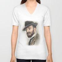 gentleman V-neck T-shirts featuring Gentleman by Rachel Zink