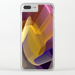 Modern colourful abstract with optical effects Clear iPhone Case