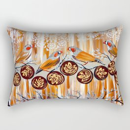 Zebra Finches Rectangular Pillow