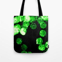 green bokeh Tote Bag