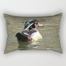 Wood Duck at Green Valley In Rectangular Pillow