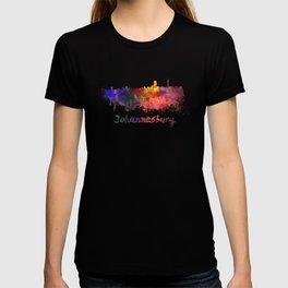 Johannesburg skyline in watercolor T-shirt
