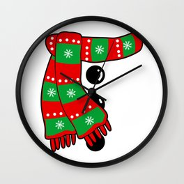 Snowman Costume Christmas Wall Clock