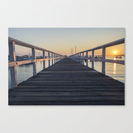pier during sunset Canvas Print