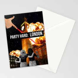 Party Hard: LONDON Stationery Cards