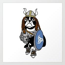 Viking Dog Art Print