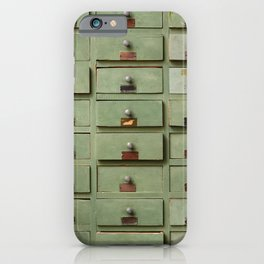 Old wooden cabinet with drawers iPhone Case