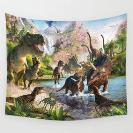 Jurassic dinosaur Wall Tapestry