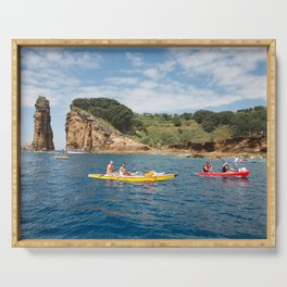 Kayaking in Azores Serving Tray