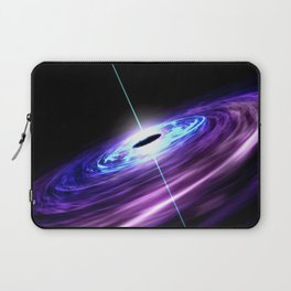 Supermassive black hole feasts on the hot accretion disk around it and at the same time shooting out Laptop Sleeve