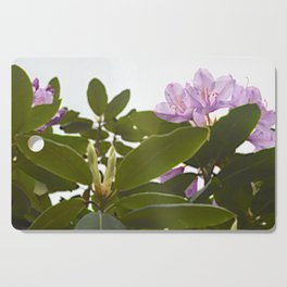 Pink Azalea Flowers with Spring Green Leaves Cutting Board