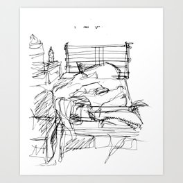 The Most Empty Bed Art Print