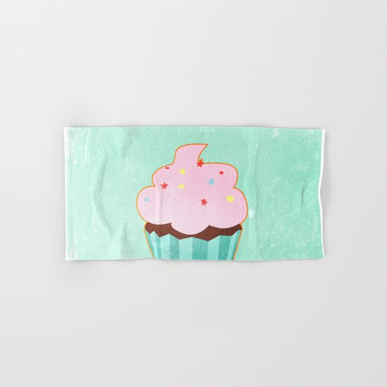 Cupcake tasty, sweet illustration Hand & Bath Towel