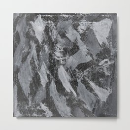 White Ink on Black Background #2 Metal Print