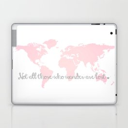 Not all Those Who Wander are Lost in Blush Pink and Gray Laptop & iPad Skin