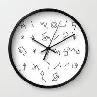 alphabet Wall Clocks featuring ALPHABET  by Mansken