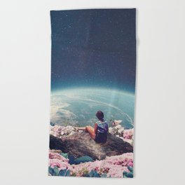 My World Blossomed when I Loved You Beach Towel