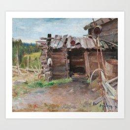 PEKKA HALONEN, AN OLD SHACK. Art Print