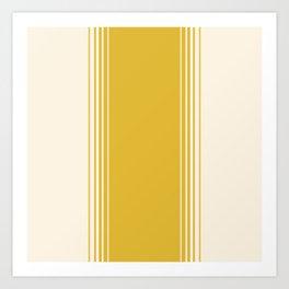 Marigold & Crème Vertical Gradient Kunstdrucke