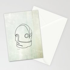 One line Iron Giant Stationery Cards