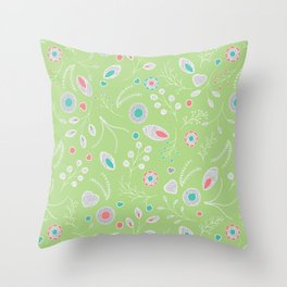 Lacey Flowers Throw Pillow