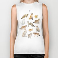 foxes Biker Tanks featuring Foxes by Amy Hamilton