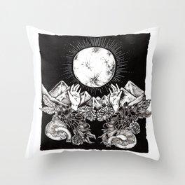 """Harvest Moon"" Throw Pillow"