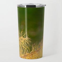 Yellow On Green Travel Mug