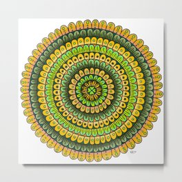 Lucky Mandala Metal Print