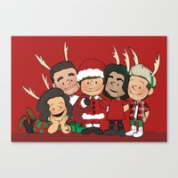 liam payne Canvas Prints featuring It's Christmas, Liam Payne by Ashley R. Guillory