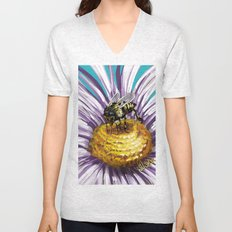 Wasp on flower 3 Unisex V-Neck