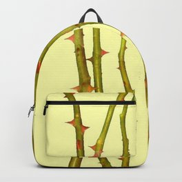 THORN BUSH CANES ABSTRACT IN YELLOW ART Backpack