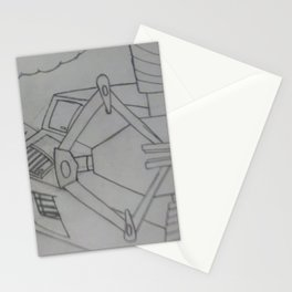 Hydraulic machine Stationery Cards