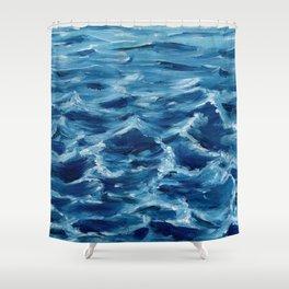 Acrylic wave Shower Curtain