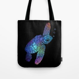 Colorful Sea Turtle II Tote Bag