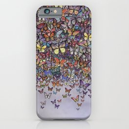 butterfly cascade iPhone Case