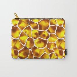 Watercolor Giraffe's Spots (Golden Yellow) Carry-All Pouch
