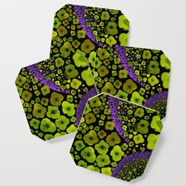 Paths of Color [green & purple] Coaster