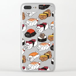 Sushi Poodle Clear iPhone Case