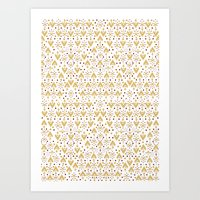 Geometric Diamond repeating Art Print